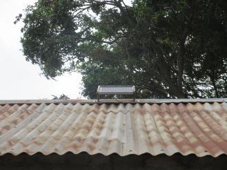 roof mounted solar panel