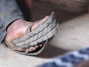 recycled tyre flip flops!