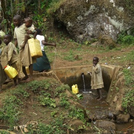 Children start collecting water at a very early age