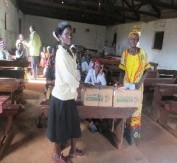 Scholastic materials distributed to families