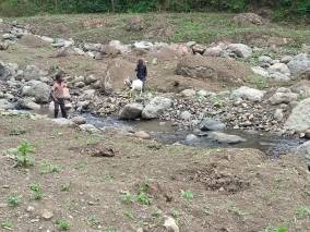 stream carrying flood waters